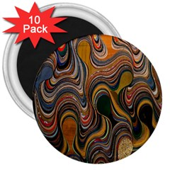Swirl Colour Design Color Texture 3  Magnets (10 Pack)