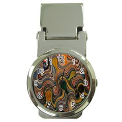 Swirl Colour Design Color Texture Money Clip Watches by Simbadda