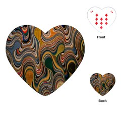 Swirl Colour Design Color Texture Playing Cards (heart)  by Simbadda