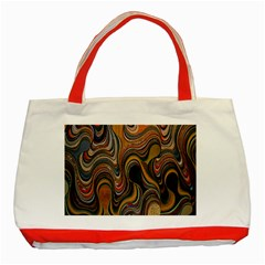 Swirl Colour Design Color Texture Classic Tote Bag (red)