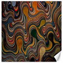 Swirl Colour Design Color Texture Canvas 16  X 16   by Simbadda