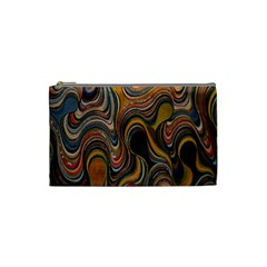 Swirl Colour Design Color Texture Cosmetic Bag (small)  by Simbadda