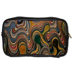 Swirl Colour Design Color Texture Toiletries Bags 2 Side by Simbadda