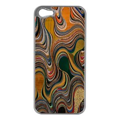 Swirl Colour Design Color Texture Apple Iphone 5 Case (silver) by Simbadda