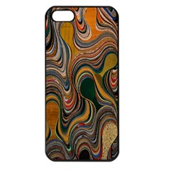 Swirl Colour Design Color Texture Apple Iphone 5 Seamless Case (black) by Simbadda