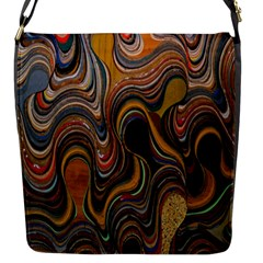 Swirl Colour Design Color Texture Flap Messenger Bag (s) by Simbadda