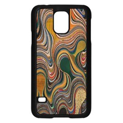 Swirl Colour Design Color Texture Samsung Galaxy S5 Case (black) by Simbadda