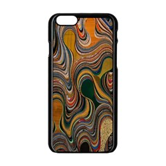 Swirl Colour Design Color Texture Apple Iphone 6/6s Black Enamel Case by Simbadda