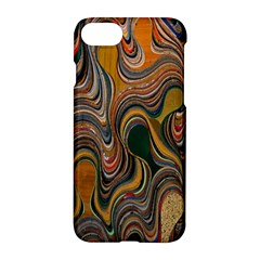 Swirl Colour Design Color Texture Apple Iphone 7 Hardshell Case