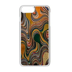 Swirl Colour Design Color Texture Apple Iphone 7 Plus White Seamless Case by Simbadda