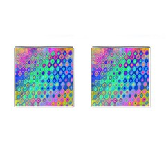 Background Texture Pattern Colorful Cufflinks (square) by Simbadda