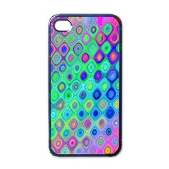 Background Texture Pattern Colorful Apple Iphone 4 Case (black) by Simbadda