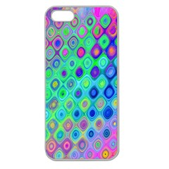 Background Texture Pattern Colorful Apple Seamless Iphone 5 Case (clear) by Simbadda