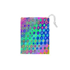 Background Texture Pattern Colorful Drawstring Pouches (xs)  by Simbadda