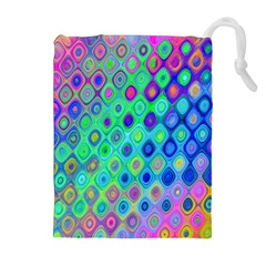 Background Texture Pattern Colorful Drawstring Pouches (extra Large) by Simbadda