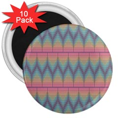 Pattern Background Texture Colorful 3  Magnets (10 Pack)