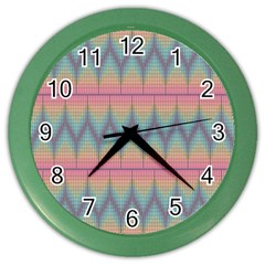 Pattern Background Texture Colorful Color Wall Clocks by Simbadda