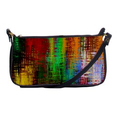 Color Abstract Background Textures Shoulder Clutch Bags by Simbadda