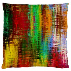 Color Abstract Background Textures Large Cushion Case (one Side) by Simbadda