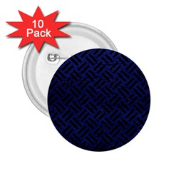Woven2 Black Marble & Blue Leather (r) 2 25  Button (10 Pack) by trendistuff