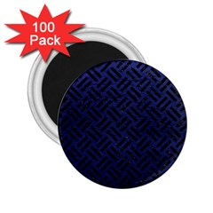 Woven2 Black Marble & Blue Leather (r) 2 25  Magnet (100 Pack)  by trendistuff