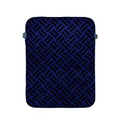 Woven2 Black Marble & Blue Leather (r) Apple Ipad 2/3/4 Protective Soft Case by trendistuff