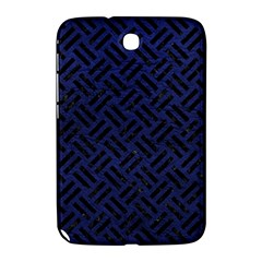Woven2 Black Marble & Blue Leather (r) Samsung Galaxy Note 8 0 N5100 Hardshell Case  by trendistuff