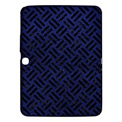 Woven2 Black Marble & Blue Leather (r) Samsung Galaxy Tab 3 (10 1 ) P5200 Hardshell Case  by trendistuff