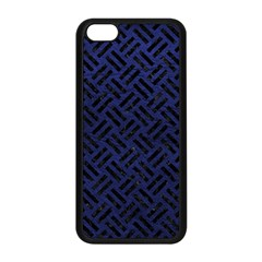 Woven2 Black Marble & Blue Leather (r) Apple Iphone 5c Seamless Case (black) by trendistuff