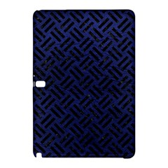 Woven2 Black Marble & Blue Leather (r) Samsung Galaxy Tab Pro 12 2 Hardshell Case by trendistuff