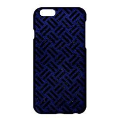 Woven2 Black Marble & Blue Leather (r) Apple Iphone 6 Plus/6s Plus Hardshell Case by trendistuff