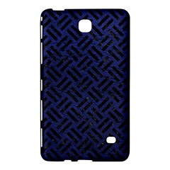 Woven2 Black Marble & Blue Leather (r) Samsung Galaxy Tab 4 (7 ) Hardshell Case  by trendistuff