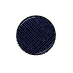 Woven2 Black Marble & Blue Leather Hat Clip Ball Marker (10 Pack) by trendistuff