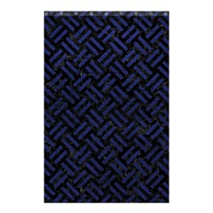 Woven2 Black Marble & Blue Leather Shower Curtain 48  X 72  (small) by trendistuff