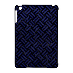 Woven2 Black Marble & Blue Leather Apple Ipad Mini Hardshell Case (compatible With Smart Cover) by trendistuff