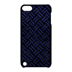 Woven2 Black Marble & Blue Leather Apple Ipod Touch 5 Hardshell Case With Stand by trendistuff