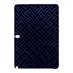 Woven2 Black Marble & Blue Leather Samsung Galaxy Tab Pro 12 2 Hardshell Case by trendistuff
