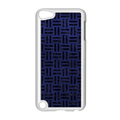 Woven1 Black Marble & Blue Leather (r) Apple Ipod Touch 5 Case (white) by trendistuff