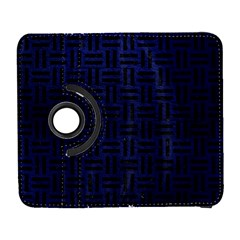 Woven1 Black Marble & Blue Leather (r) Samsung Galaxy S  Iii Flip 360 Case by trendistuff