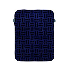 Woven1 Black Marble & Blue Leather (r) Apple Ipad 2/3/4 Protective Soft Case by trendistuff