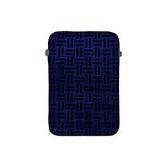 Woven1 Black Marble & Blue Leather (r) Apple Ipad Mini Protective Soft Case by trendistuff