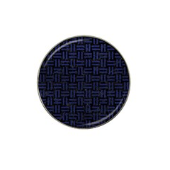 Woven1 Black Marble & Blue Leather Hat Clip Ball Marker (10 Pack) by trendistuff