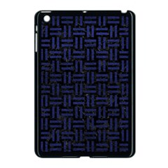 Woven1 Black Marble & Blue Leather Apple Ipad Mini Case (black) by trendistuff