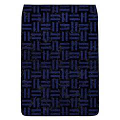 Woven1 Black Marble & Blue Leather Removable Flap Cover (l) by trendistuff
