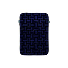 Woven1 Black Marble & Blue Leather Apple Ipad Mini Protective Soft Case by trendistuff