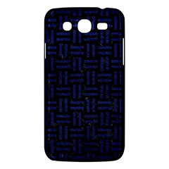 Woven1 Black Marble & Blue Leather Samsung Galaxy Mega 5 8 I9152 Hardshell Case  by trendistuff