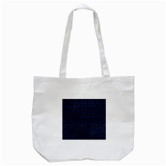 Woven1 Black Marble & Blue Leather Tote Bag (white) by trendistuff
