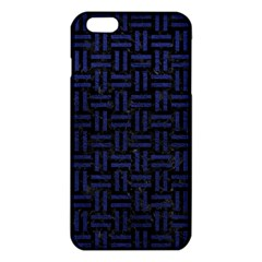 Woven1 Black Marble & Blue Leather Iphone 6 Plus/6s Plus Tpu Case by trendistuff