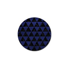 Triangle3 Black Marble & Blue Leather Golf Ball Marker (10 Pack) by trendistuff