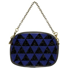 Triangle3 Black Marble & Blue Leather Chain Purse (two Sides) by trendistuff